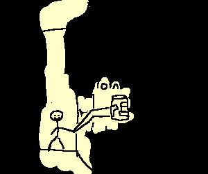 A reach around