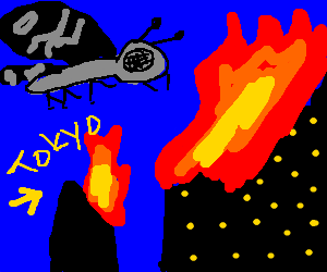 Mothra annihilates Tokyo