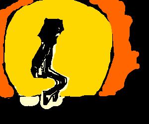 mj dancing on the sun
