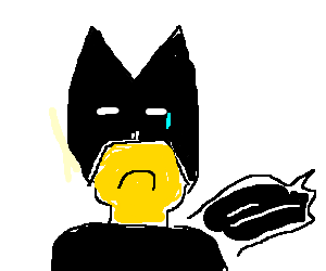 Sad Lego Man crying. Add Batman to cheer him up?