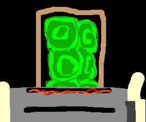 Turquoise Pop tart