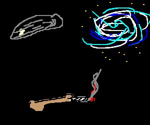 Carl Sagan's Talking Boner Smokes Pot