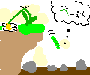 green worm suicidal after loss of flower friend