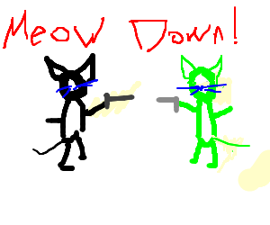 draw between live-cat and radioactive-cat!