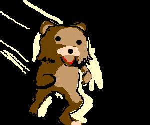 Pedobear running