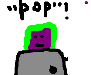 green poptart with grape flavor, face included