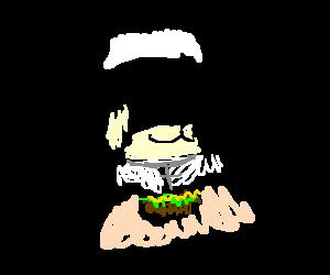 Nun eating tacos
