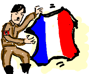 Hitler tries to take over the French