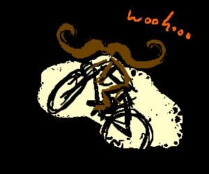 Handlebar moustache performs sweet tricks