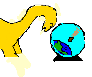 Yellow brontosaurus can see future (asteroid)
