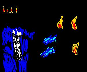 King shoots lightning, burns Magna Carta