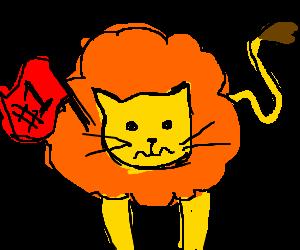 Apprehensive lion is #1
