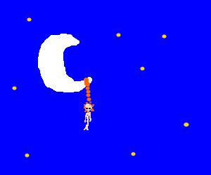 Man dies on the moon