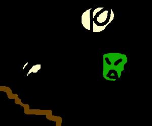 ufo crashed, alien sad