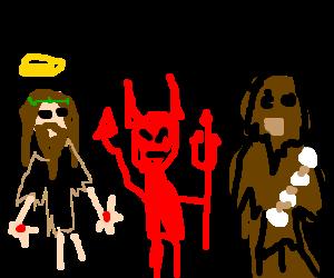 jesus, satan and chewbacca