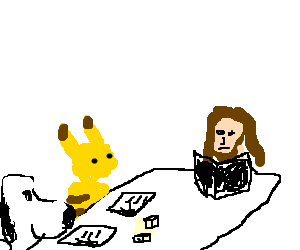 Snoopy, jesus and pikachu play D&D