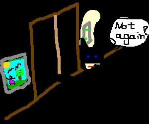 Batman gets his cape stuck in elevator