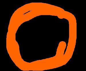 "Evil orange says ""Hi"""