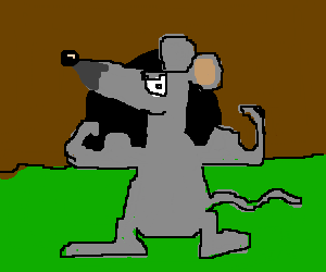 Mouse shows off his muscles