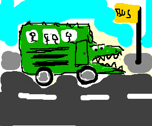 croc-school bus is ready to bite