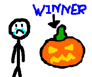 Man loses to pumpkin in Perfection