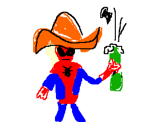 Spiderman is Mexican and Drinks Champagne