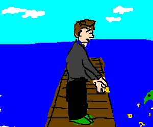 Man standing on the dock