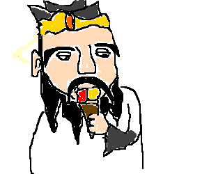 Confucius eating an ice cream