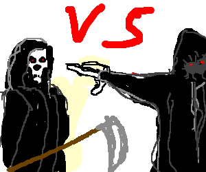 Ghost of Christmas Yet to Come vs. Grim Reaper - Drawception