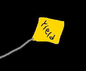falling yeild sign
