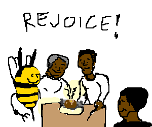 Bee and Black People enjoy Baked Potato