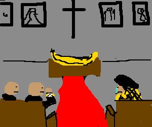Women cries at banana funeral, man apathetic