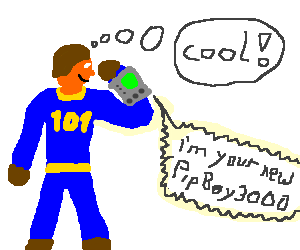 Vault 101 resident checks out Pip-Boy 3000