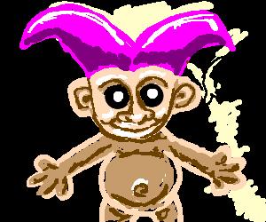 Dapper troll baby says wa wa wa...