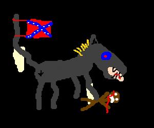 Racist donkey is racist