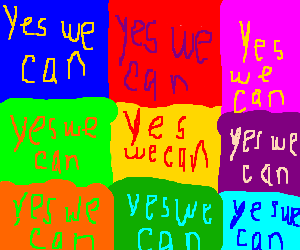"""yes we can"" pop art poster"