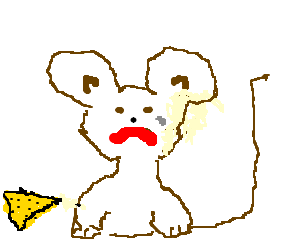 a sad brown mouse