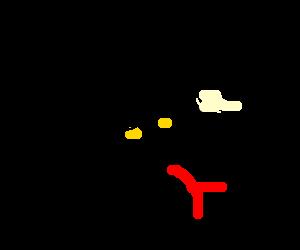 A mummified snake