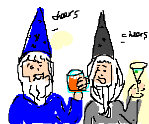 Two Wizards Getting Wasted