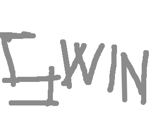 Swin made from grey lines.