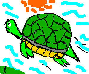 A very cute flying turtle