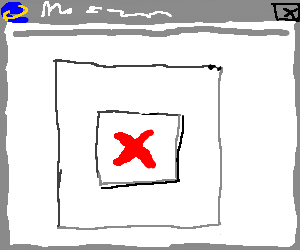 a superb drawing of a broken image!