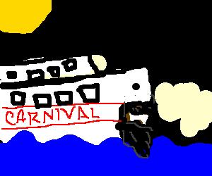 Blackbeard on a cruise ship