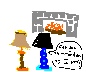Two lamps enjoying each other's company