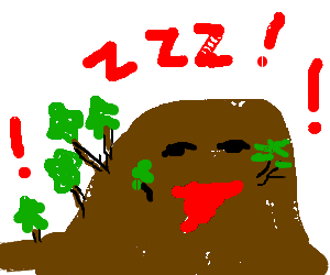 Sleepy but excited hill