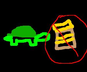 Turtles don't like peanut butter