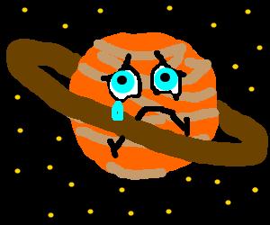 Saturn is sad