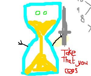 hour glass avenges his fathers death