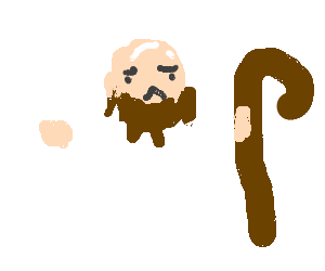 Bald man wants to be Jesus, can't wear wig