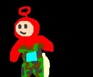 A the red Teletubby activates Camo mode.
